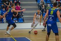 Z utkání 8. kola NBL BC Kolín - Opava (92:81).