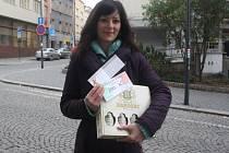 Jaroslava Salvová získala poukaz do pizzerie Týna v hodnotě 200,-Kč, poukázku na cvičení SlimBelly a karton piv značky Rohozec.