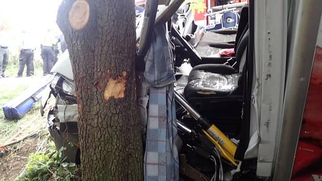 Dopravní nehoda nedaleko Kouřimi 16. září 2019.