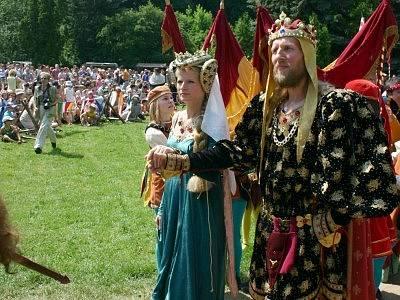 Král Václav IV. a jeho sličná manželka Žofie.