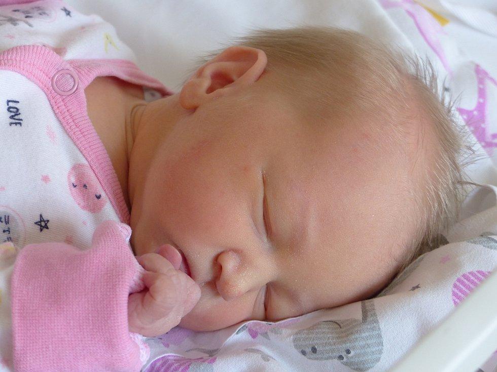 Adéla Vortelová se narodila 19. ledna 2021 v kolínské porodnici, vážila 2670 g a měřila 48 cm. V Sokolči se z ní těší bráška Dominik (3) a rodiče Michaela a Lukáš.