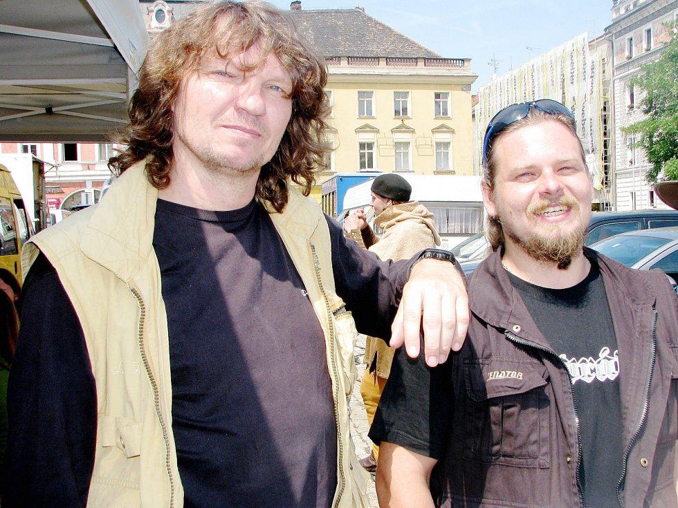 Igor Krištof (vlevo) s Tomášem Tvrdíkem z Kolínské společnosti Poprávu