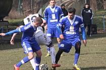 Z přípravného utkání FK Kolín - Hořovicko (1:1).
