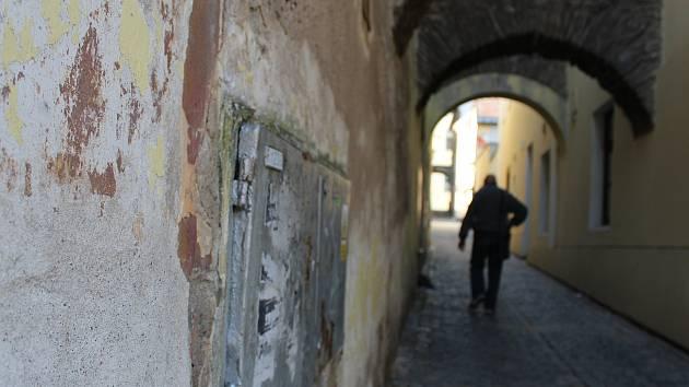 Zlatá ulička v Kolíně.
