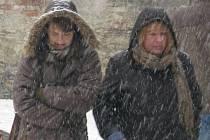 Do vytrvalého sněžení se vydali jen odvážlivci zachumlaní do zimního oblečení