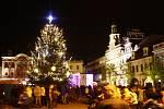 Rozsvícení vánočního stromu v Kolíně