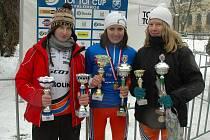Úspěšné kolínské kadetky zleva: Czeczinkarová, Březinová a Vaníčková.
