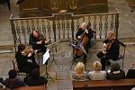 Z koncertu Kvarteta Apollon v synagoze v Kolíně.