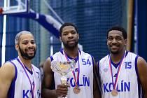 Trio Američanů, které v sezoně 2011/2012 hájilo barvy Kolína (zleva): Rahsaan Ames, Richard Field, Chad Barnes
