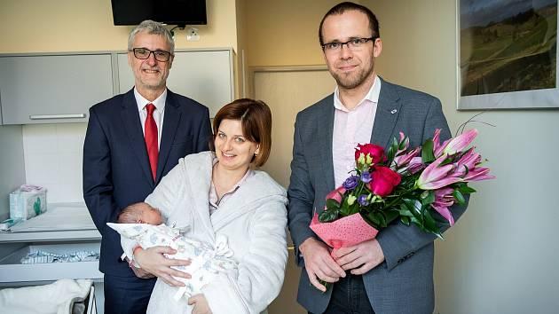 První kolínské miminko.