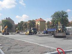 Rekonstrukce autobusového nádraží v Kolíně. Srpen 2018.