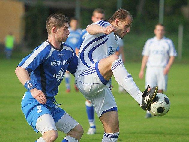 Z utkání FK Kolín - Letohrad (2:6).