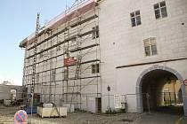 Rekonstrukce Žerotínského paláce v Kolíně.