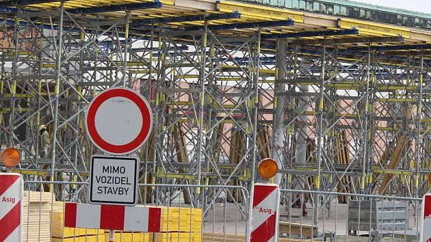 Rekonstrukce autobusového nádraží v Kolíně, březen 2018