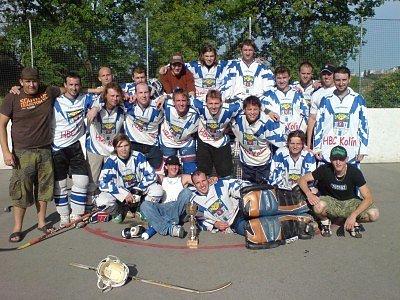 Hokejbalisté HBC Kolín zažili parádní sezonu, kterou završili postupem do 2. národní ligy.