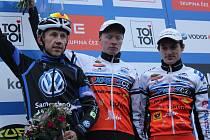 Nejlepší muži. Zleva Marek Konwa, Jan Nesvadba a Tomáš Paprstka.