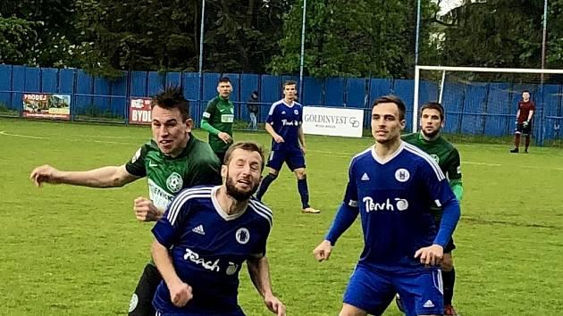 Z utkání Český Brod - Velké Hamry (3:2).
