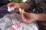 Miluše Žižková se svými výrobky