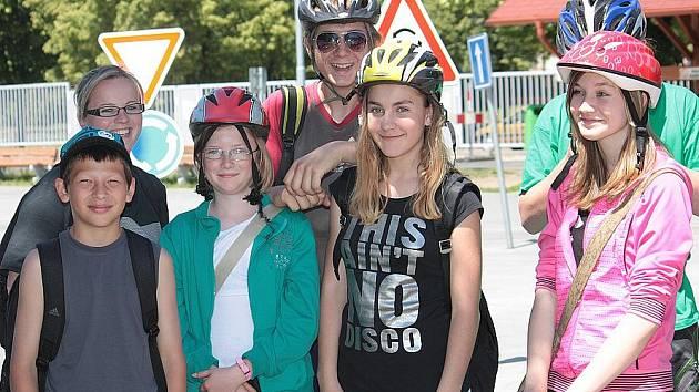 Mladí cyklisté se učili dopravním pravidlům