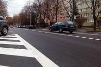 Masarykova ulice patří k frekventovaným sídlištním ulicím