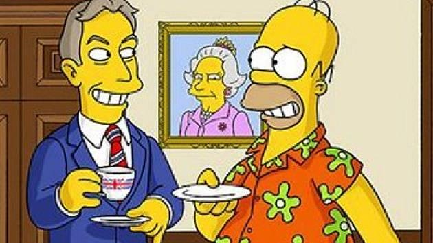 Snímek z animovaného seriálu Simpsonovi.