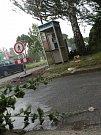 Vítr a přívalové deště se nevyhnuly ani Českobrodsku.