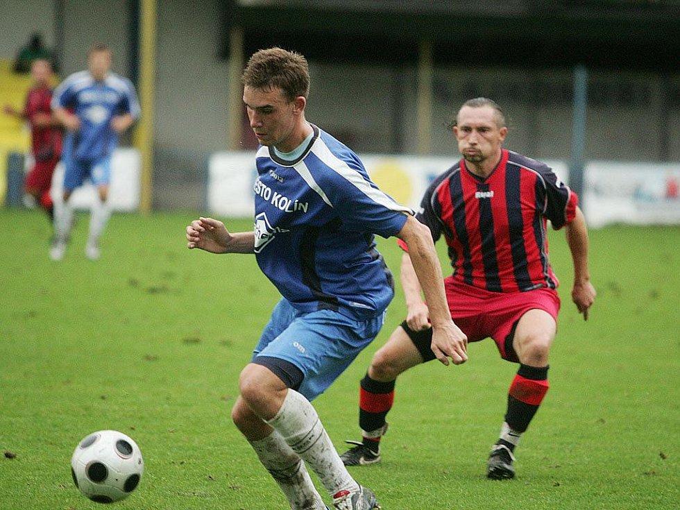 Z divizního fotbalového utkání FK Kolín - AS Pardubice (2:0)