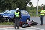 Nehoda na kruháku u Lidlu