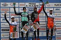 Český pohár v Praze Řepích byl z pohledů závodníků Kolína velmi úspěšný. Jan Nesvadba (vpravo) dojel třetí, Tomáš Paprstka (vlevo) čtvrtý.