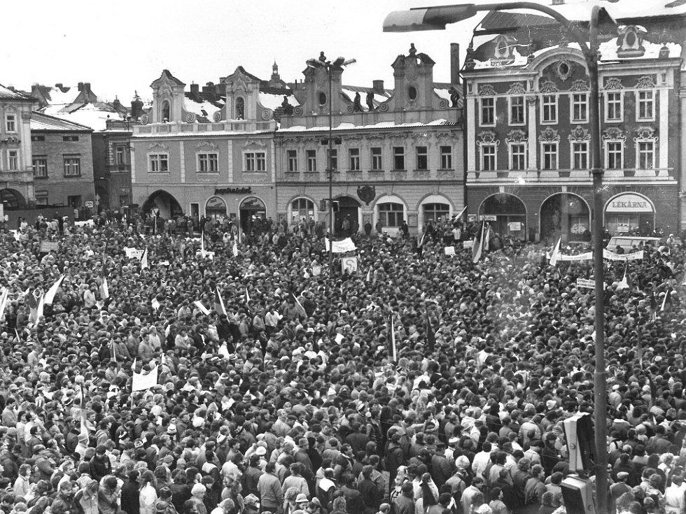 Generální stávka v Kolíně v listopadu 1989