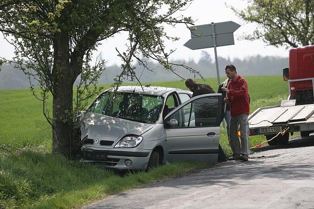 Dopravní nehoda u Olešky. 23.4. 2009