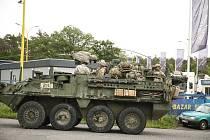 Američtí vojáci projeli středními Čechami.