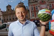 Lídr STAN a starosta Vít Rakušan na předvolební kampani v Kolíně.