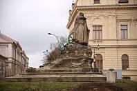 Památník Prokopa Holého, březen 2021.