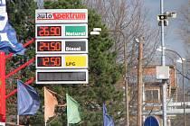 Sledujeme ceny pohonných hmot