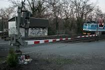 Železniční přejezd v lokalitě Na Pustině v Kolíně.