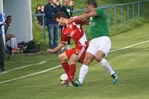 Z utkání Polepy - Jíloviště (0:0).