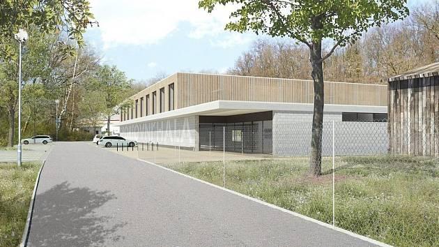 Vizualizace nové sportovní haly v Kolíně.