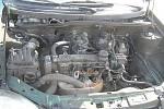 Požár auta u Jestřabí Lhoty