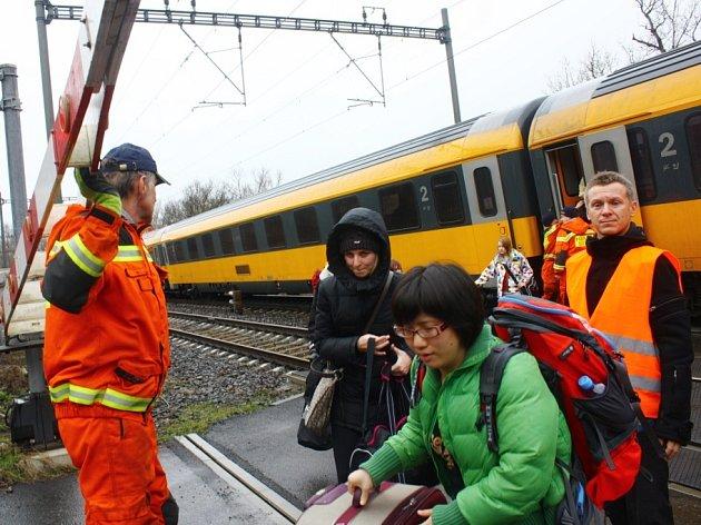 Tragická vlaková nehoda za Kolín-Zastávka