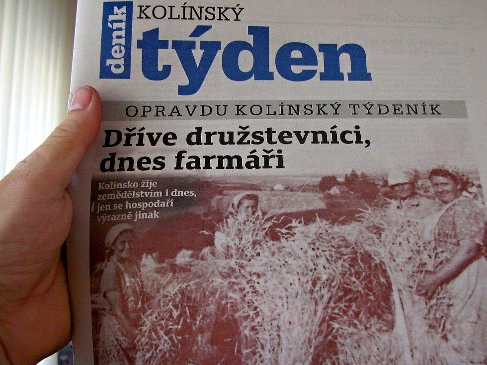 Titulní strana dvacátého šestého čísla týdeníku Kolínský týden.