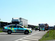 Nehoda zablokovala obchvat Kolína.