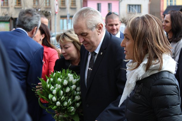 Prezident Miloš Zeman vKostelci