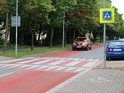 Zpomalovací koberec v ulici U Nemocnice v Kolíně