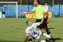 Z utkání Český Brod - Neratovice (0:0).