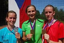 Lucie Vokáčová (vlevo), Růžena Vrtišková (uprostřed) a Daniela Peruňská (vpravo)