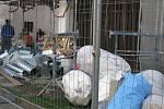 Postup prací na přístavbě Základní školy Mnichovická v Kolíně v květnu roku 2020.