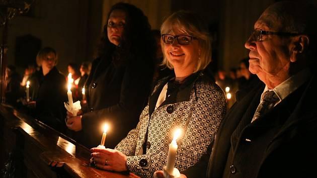 Velikonoční vigilie se slavila v chrámu sv. Bartoloměje