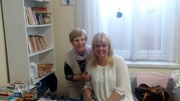Danka Šárková navštívila knihovnu v Dobřichově.
