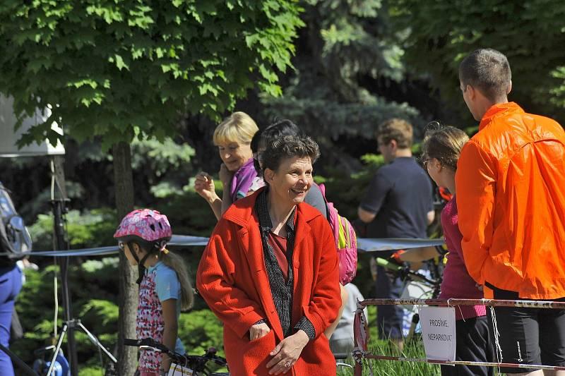 Zuzana Chmelová při Velké ceně Kouřimi v cyklistice 2018
